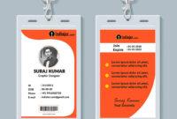 Multipurpose Corporate Office Id Card Free Psd Template for Template For Id Card Free Download