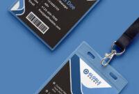 Multipurpose Dark Office Id Card Free Psd Template | Psd regarding Template For Id Card Free Download