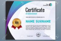 Multipurpose Modern Professional Certificate Template Design.. in Design A Certificate Template