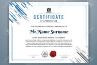 Multipurpose Modern Professional Certificate Template Design.. with Design A Certificate Template
