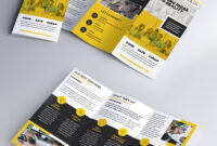 Multipurpose Tri Fold Brochure Psd Template | Psdfreebies With Brochure 3 Fold Template Psd