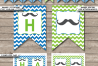 Mustache Party Banner Template in Tie Banner Template