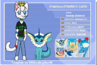 My Trainer Card~!kittyway — Fur Affinity [Dot] Net within Pokemon Trainer Card Template
