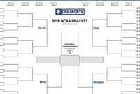 Ncaa Bracket 2018: Printable March Madness Tournament In Blank March Madness Bracket Template
