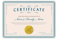 Necessary Parts Of An Award Certificate throughout Student Of The Year Award Certificate Templates