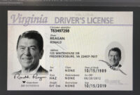 New Virginia Card With Uv Va Id Card Template With Transparent Ghost Va Id  Dl with regard to Florida Id Card Template