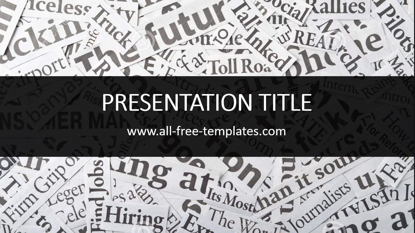 Newspaper Powerpoint Template Is Free Template That You Can With Regard To Newspaper Template For Powerpoint