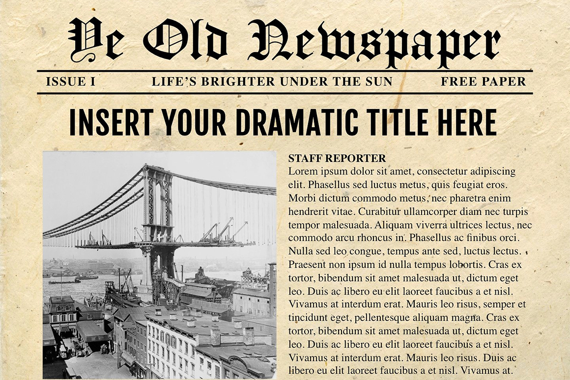 Newspaper Template For Powerpoint - Vsual For Newspaper Template For Powerpoint
