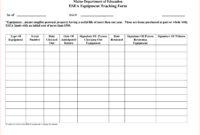 Nice Equipment Utilization Spreadsheet For Investment regarding Equipment Fault Report Template