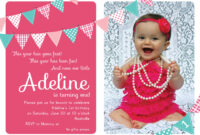 Nice Unique Ideas For First Birthday Party Invitations with regard to First Birthday Invitation Card Template