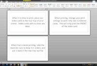 Note/index Cards – Word Template throughout Queue Cards Template