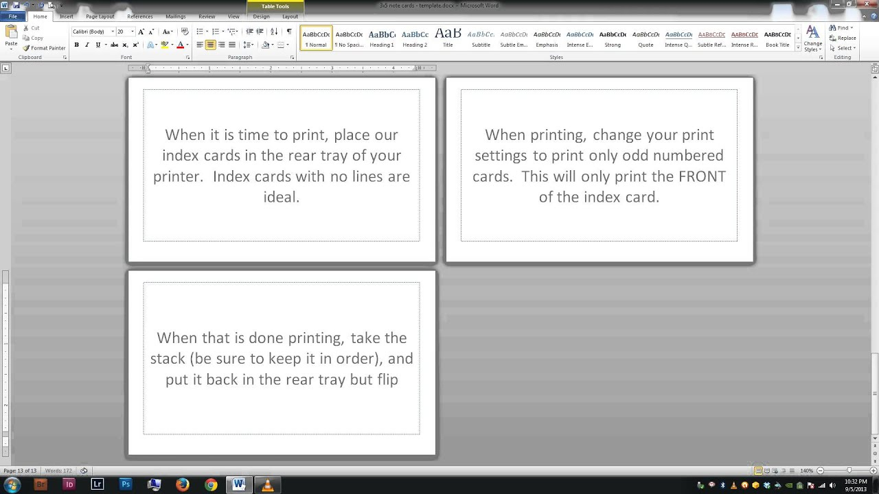 Note/index Cards - Word Template With Word Template For 3X5 Index Cards