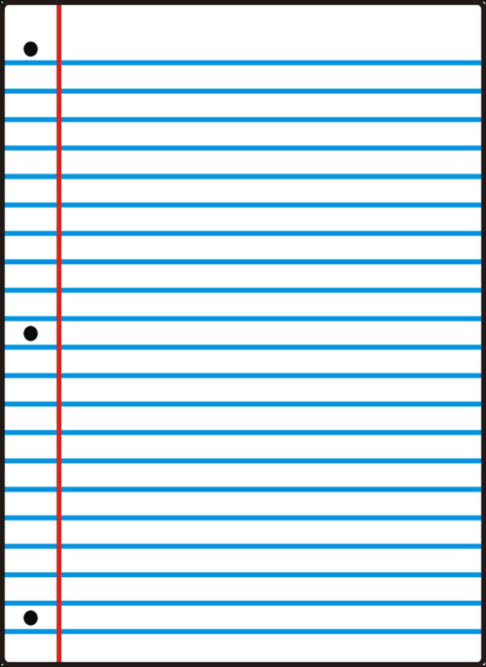 Notebook Paper Template For Word - Clip Art Library Pertaining To Notebook Paper Template For Word