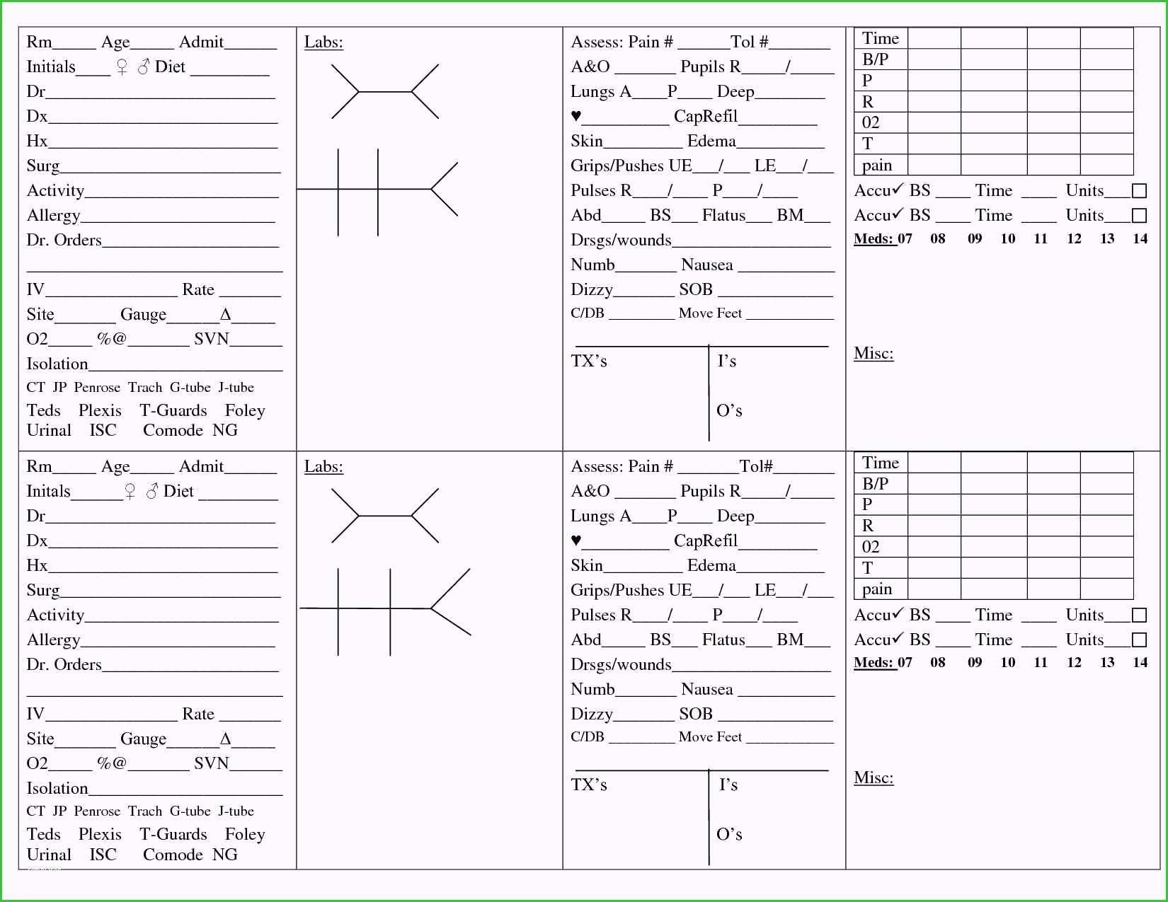 Nursing Shift Report Template New Gallery Nurse Sheet Intended For Nursing Report Sheet Template