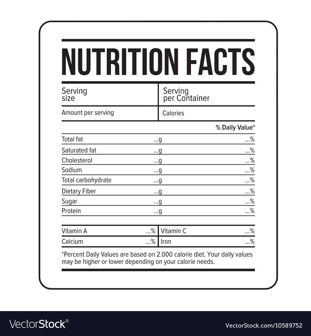Nutrition Label Template Facts Stock Illustration Of Canada Regarding Nutrition Label Template Word