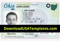 Ohio Driver License Psd | Oh Driving License Editable Template pertaining to Georgia Id Card Template