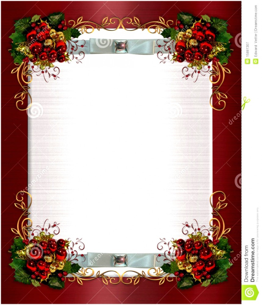 Outstanding Free Christmas Invitation Templates Template Within Free Christmas Invitation Templates For Word