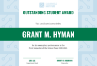Outstanding Student Certificate Template Template – Venngage intended for Student Of The Year Award Certificate Templates