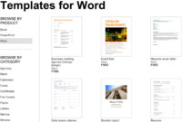 Over 250 Free Microsoft Office Templates & Documents pertaining to Google Word Document Templates