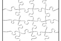 P Is For Puzzle – Free Blank Jigsaw Puzzle Template intended for Blank Jigsaw Piece Template