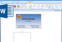 Paint Net Business Card Template Microsoft Word Make And inside Ms Word Business Card Template