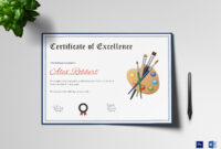 Painting Award Certificate Template Inside Award Of Excellence Certificate Template