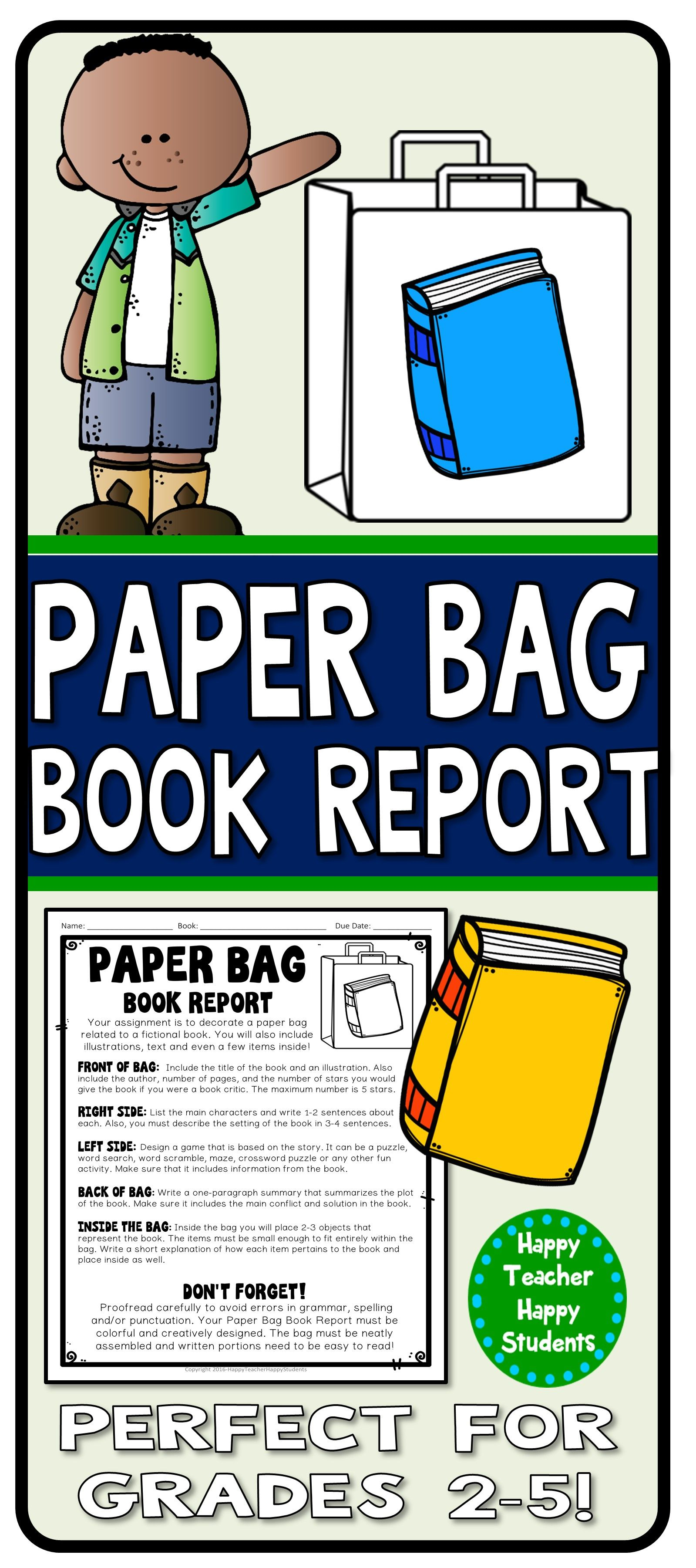 Paper Bag Book Report: Decorate A Paper Bag Based On A Within Paper Bag Book Report Template