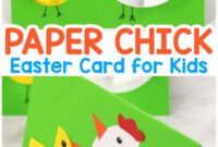 Paper Circle Hen And Chick Craft – Easter Card Idea – Easy with Easter Chick Card Template