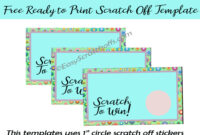 Pastel Scratch Off Card  Free Printable Regarding Scratch Off Card Templates