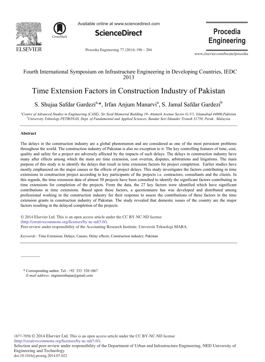 Pdf Time Extension Factors In Construction Industry Of Regarding Acceptance Card Template