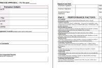 Performance Appraisal Form Template | Leadership | Financial inside Staff Progress Report Template