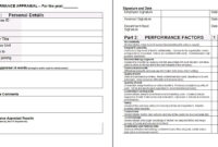 Performance Appraisal Form Template | Places To Visit within Template For Evaluation Report