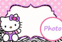 Personalized Hello Kitty Invitation Template | Janna | Hello with regard to Hello Kitty Banner Template