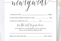 Personalized Newlyweds Advice Cards, Script Wedding Advice inside Marriage Advice Cards Templates