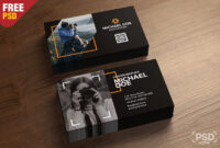 Photography Business Cards Template Psd - Psd Zone regarding Photography Business Card Template Photoshop