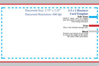 Photoshop Business Card Template With Bleed within Photoshop Business Card Template With Bleed