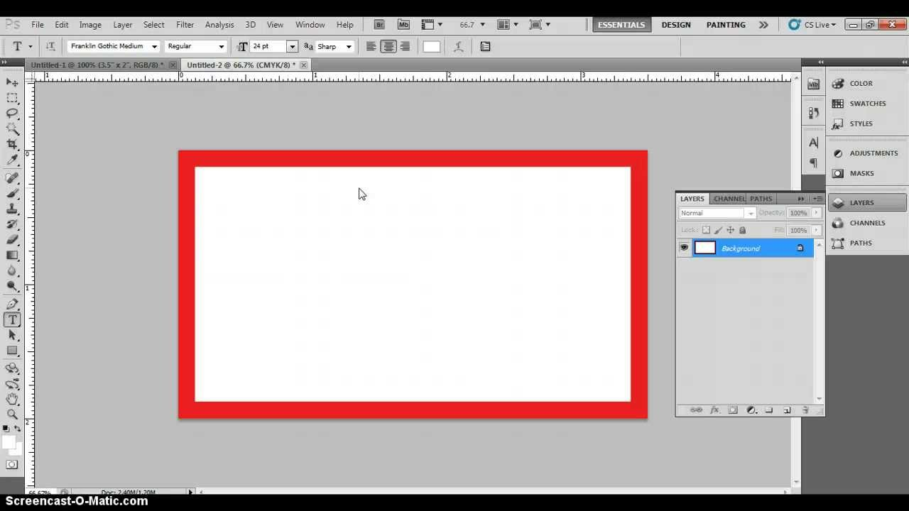 Photoshop Business Card Template With Bleeds & Correct Business Card  Dimensions Intended For Business Card Template Size Photoshop