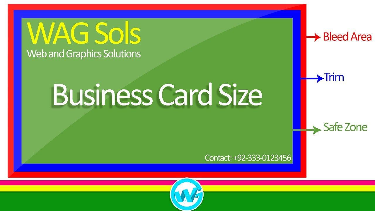 Photoshop Business Card Template With Bleeds | Learn Photoshop In Hindi /  Urdu In Photoshop Business Card Template With Bleed