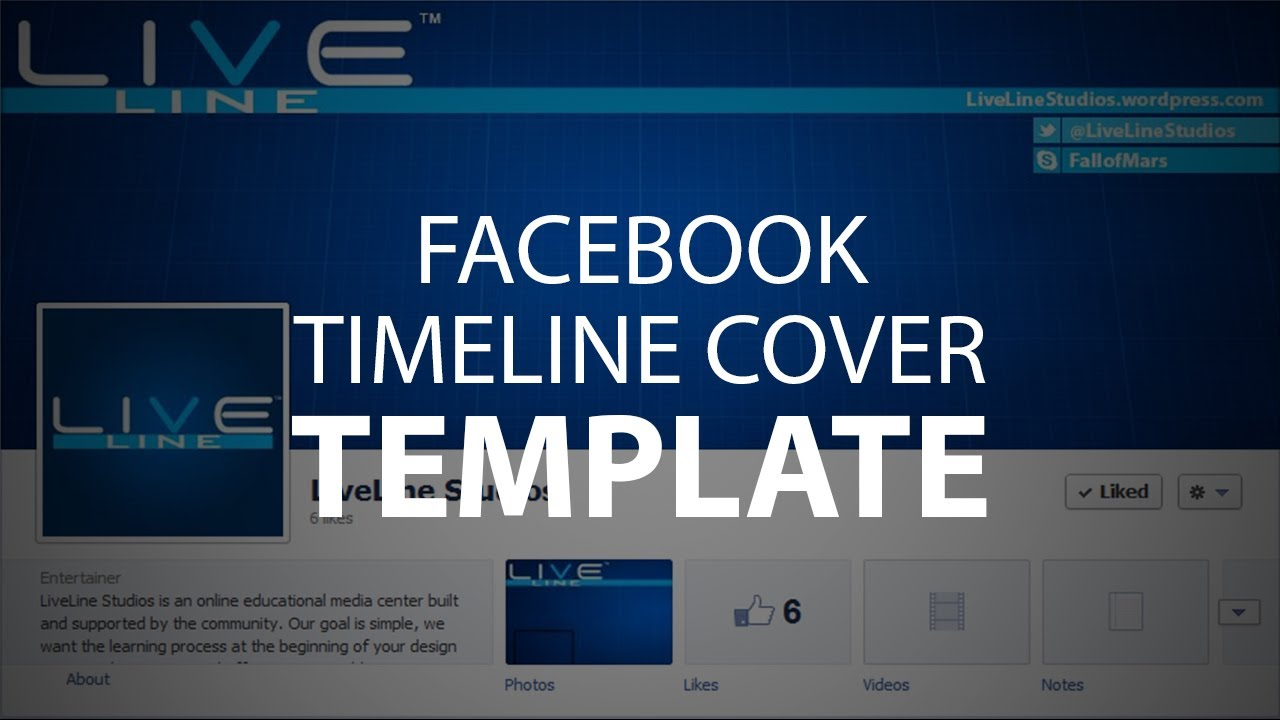 Photoshop Template: Facebook Timeline Cover (Psd File) Regarding Facebook Banner Template Psd