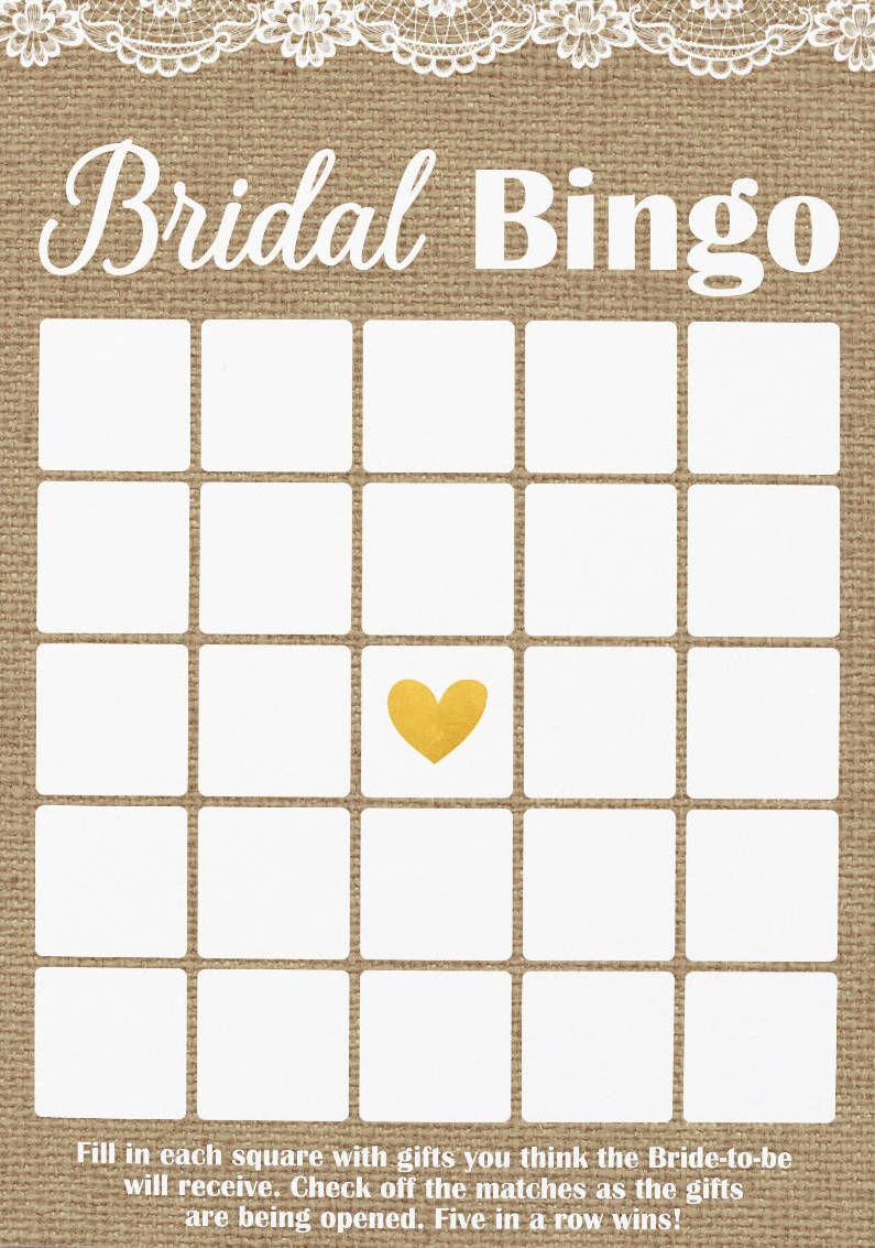 Pin On Bridal Shower Regarding Blank Bridal Shower Bingo Template