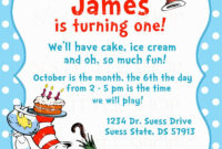 Pin On Cat In The Hat 1St Birthday within Dr Seuss Birthday Card Template