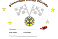 Pin On Cub Scouts Regarding Pinewood Derby Certificate Template