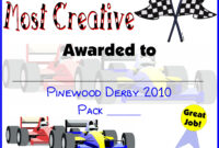 Pin On Do Your Best! Cub Scouts Pertaining To Pinewood Derby Certificate Template