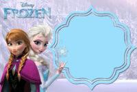 Pin On Free Printable Birthday Invitation regarding Frozen Birthday Card Template