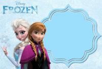 Pin On Free Printable Birthday Invitation with regard to Frozen Birthday Card Template