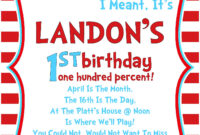 Pin On Free Printable Birthday Invitation within Dr Seuss Birthday Card Template