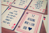Pin On Gifts & Wrapping. inside 52 Things I Love About You Deck Of Cards Template