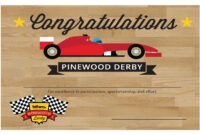 Pin On Pinewood Derby Pertaining To Pinewood Derby Certificate Template