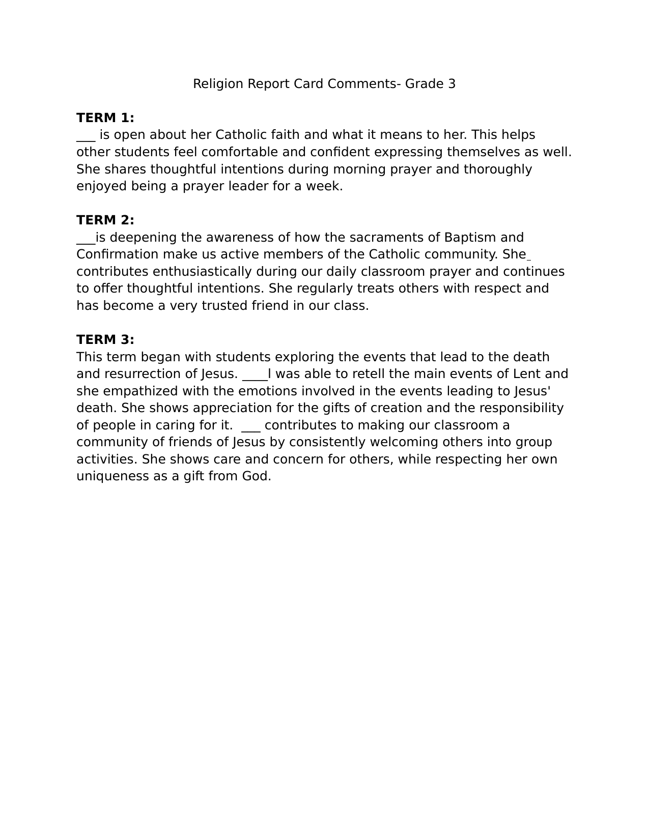Pinchinthaka Lionel On Buddhsm | Report Card Comments With Report Writing Template Ks1