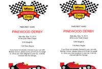 Pinewood Derby Flyers – The Gospel Home Inside Pinewood Derby Certificate Template